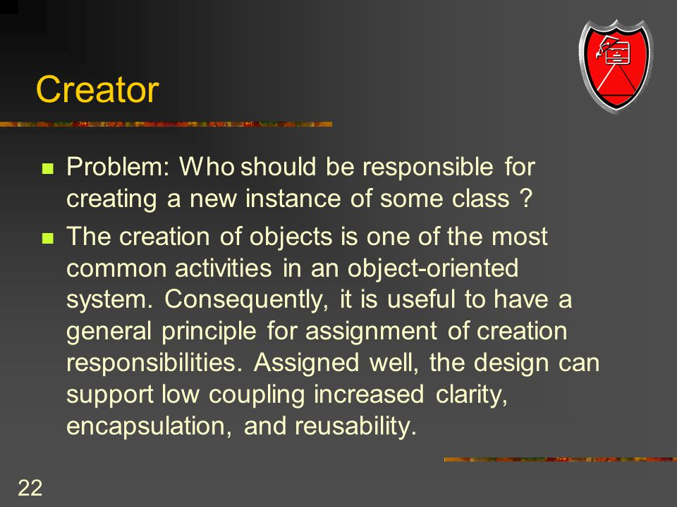 NJIT 1 GRASP: Designing Objects with Responsibilities Chapter 17 ...