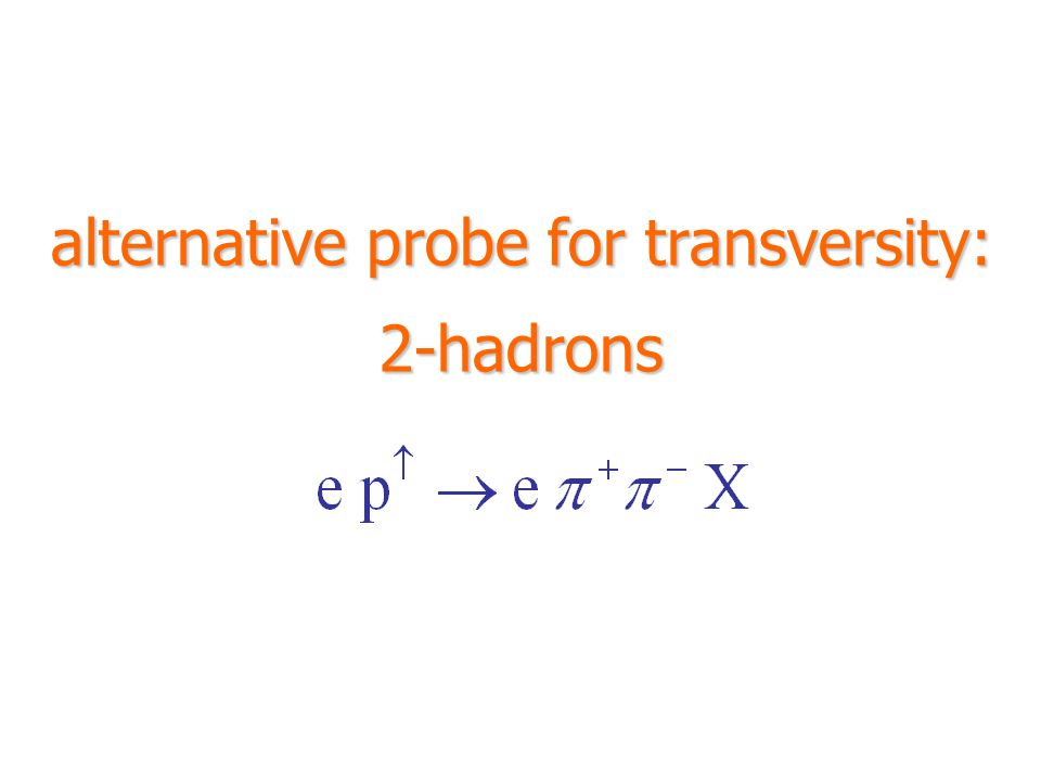 alternative probe for transversity: 2-hadrons