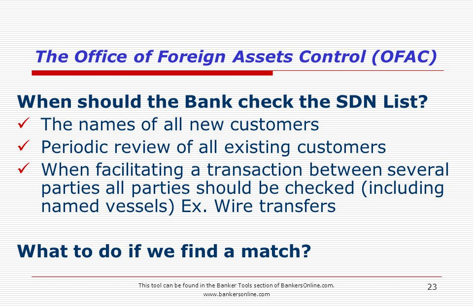 This tool can be found in the Banker Tools section of BankersOnline.com.