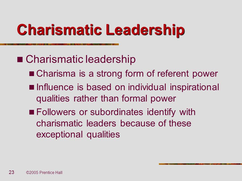 what is the charismatic leadership