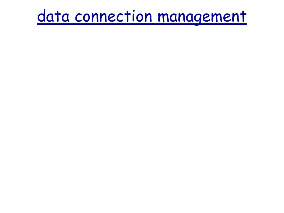 data connection management