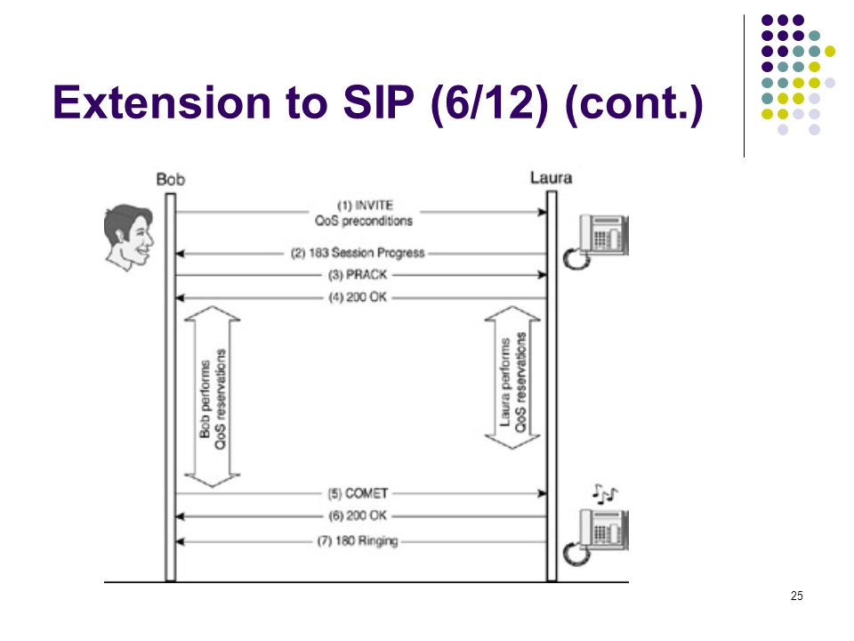 25 Extension to SIP (6/12) (cont.)