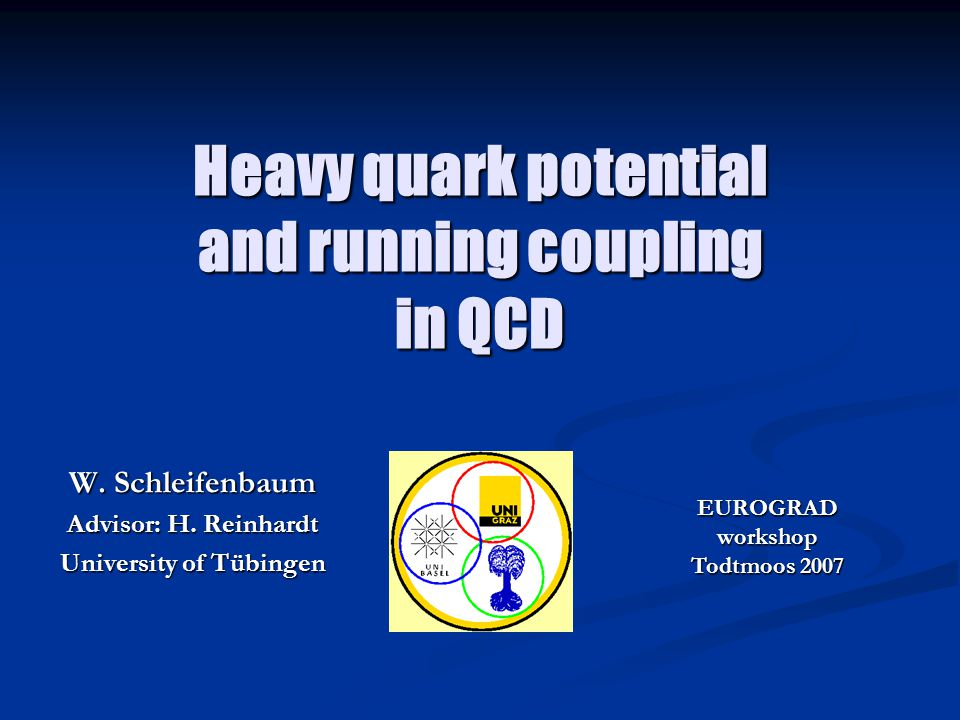 Heavy quark potential and running coupling in QCD W.