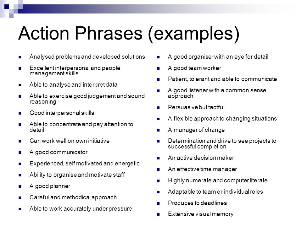 examples of interpersonal skills | Example
