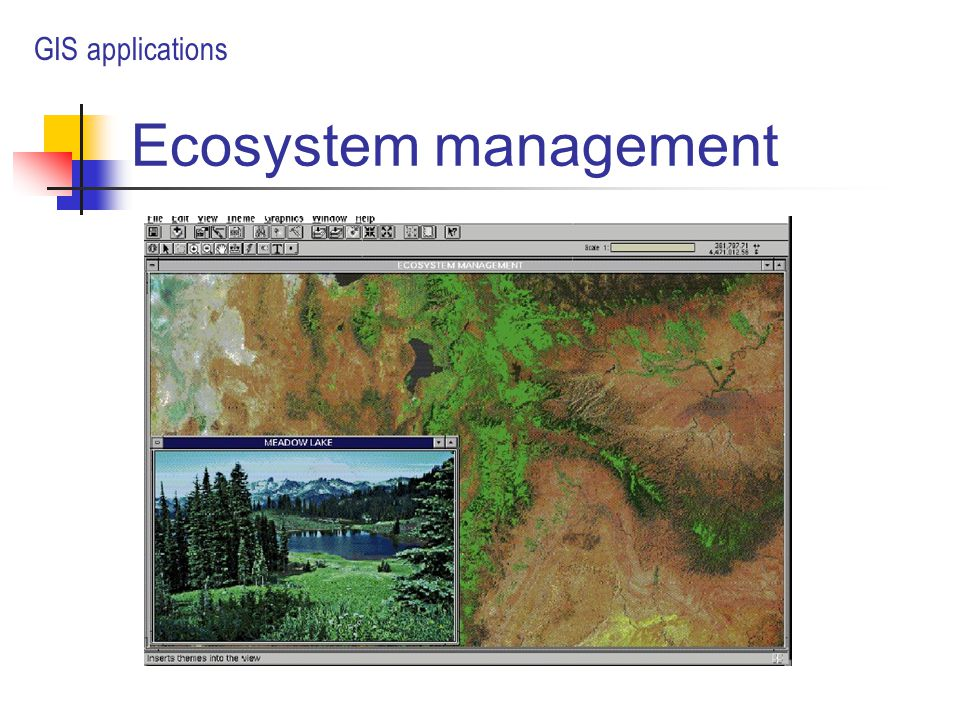 Ecosystem management GIS applications