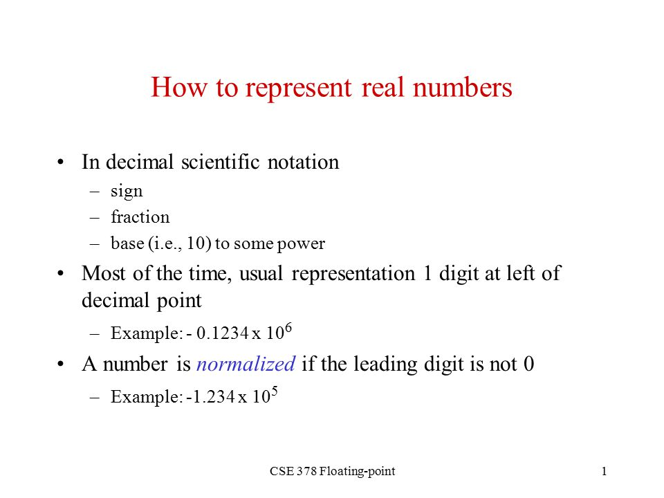 Floating Point Notation Scientific Notation Or