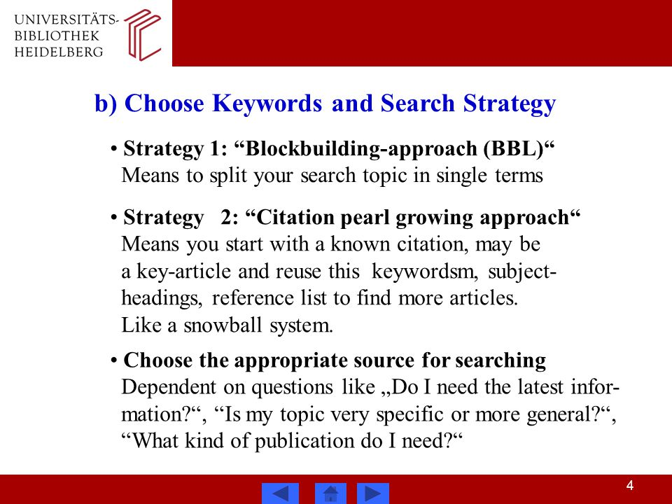 Literature search methods