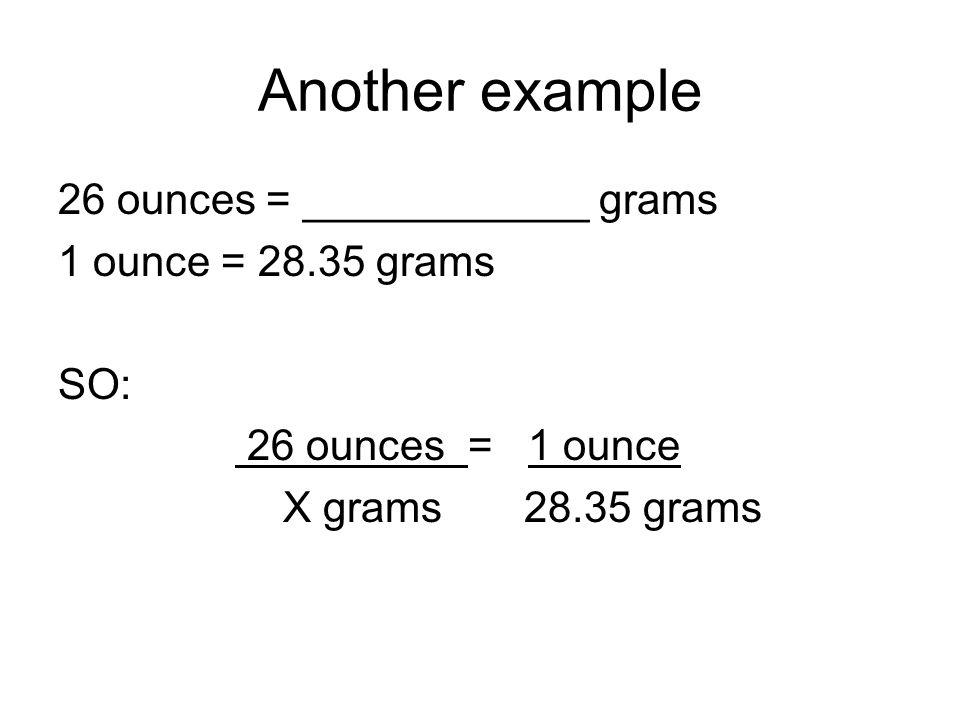 1 ounce to grams