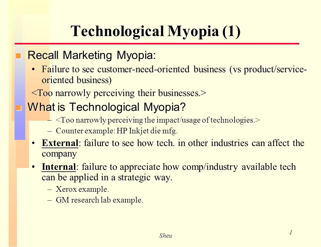 examples of marketing myopia