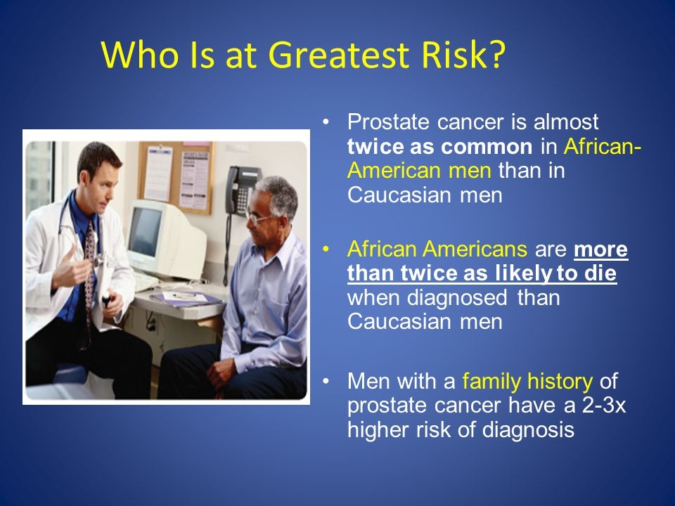 Who Is at Greatest Risk.