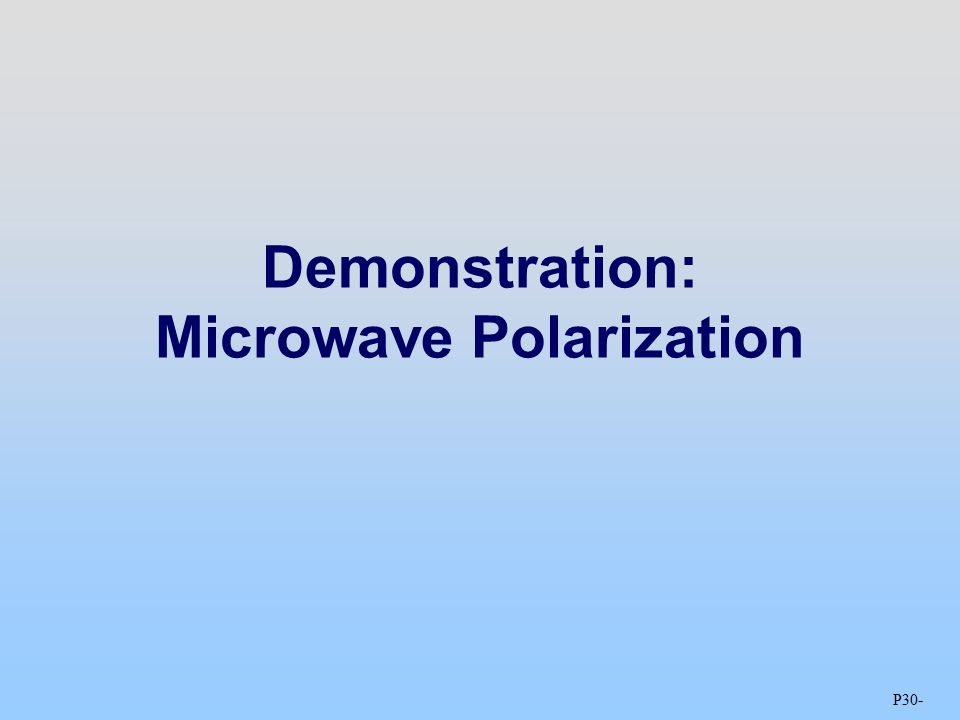 P30 - Demonstration: Microwave Polarization