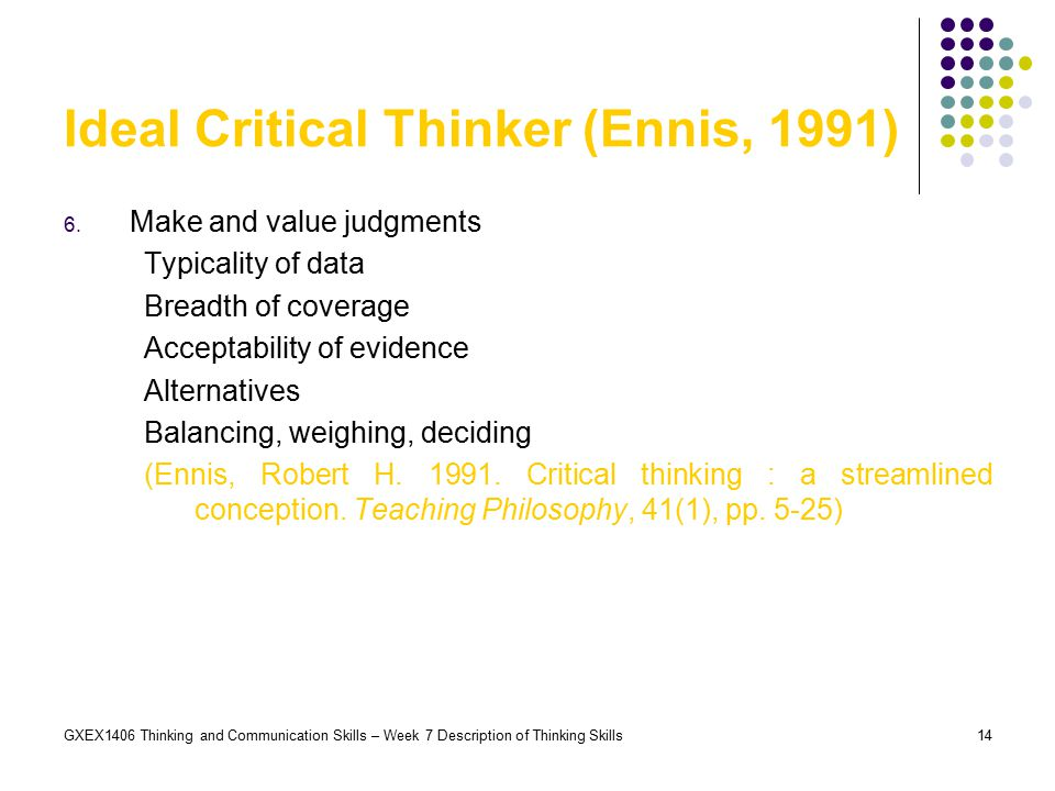 ennis weir critical thinking essay test