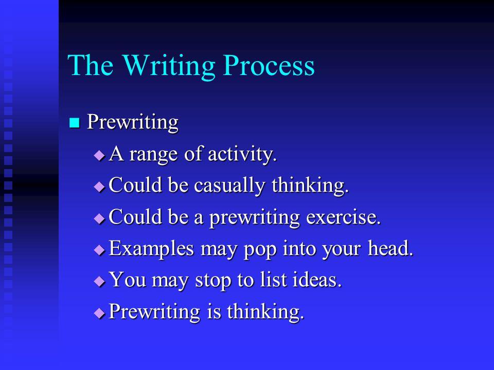 writing process prewriting