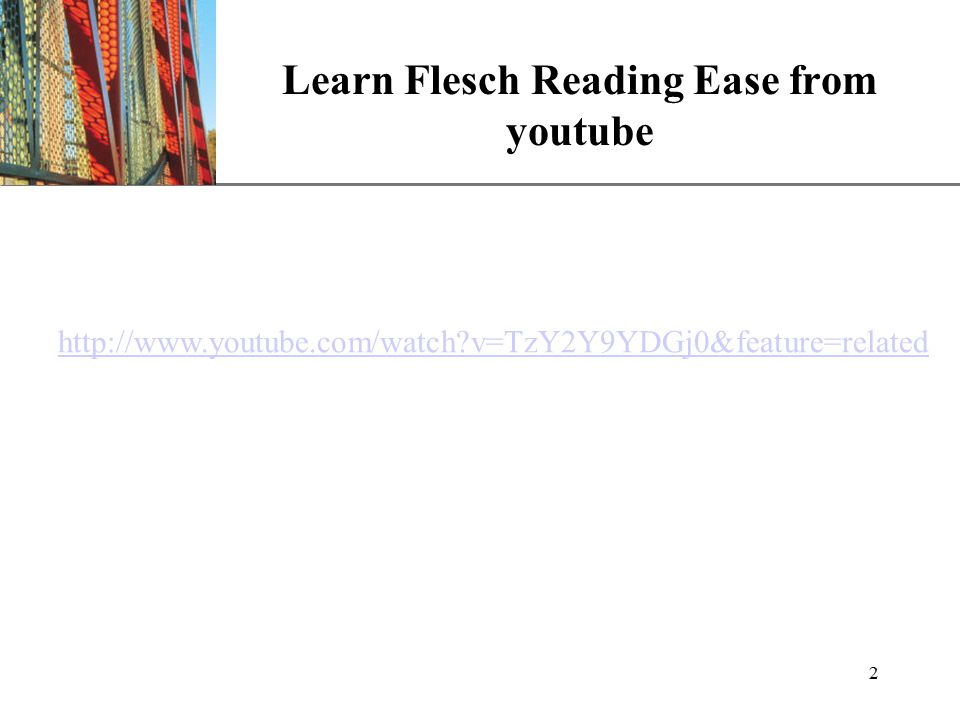 XP Learn Flesch Reading Ease from youtube 2   v=TzY2Y9YDGj0&feature=related