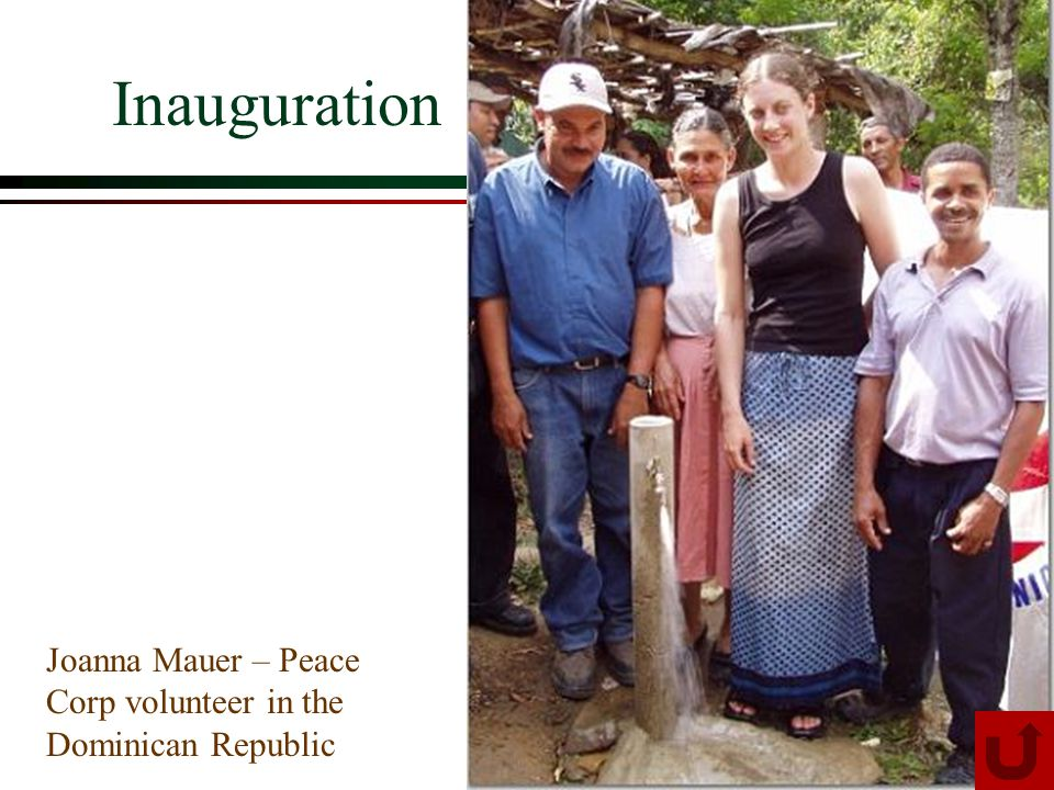 Inauguration Joanna Mauer – Peace Corp volunteer in the Dominican Republic