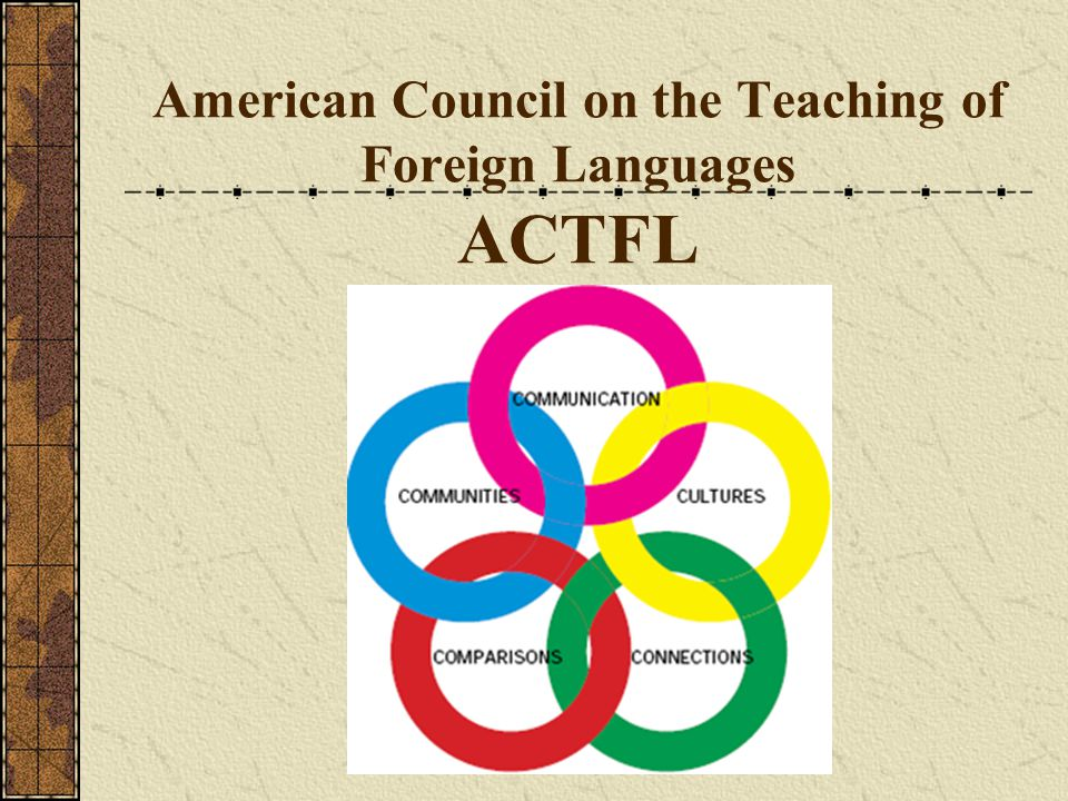 American Council on the Teaching of Foreign Languages ACTFL