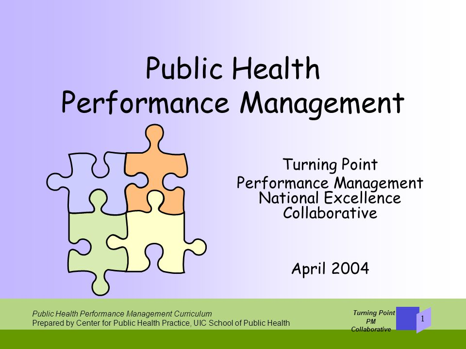 Turning Point PM Collaborative   Public Health Performance