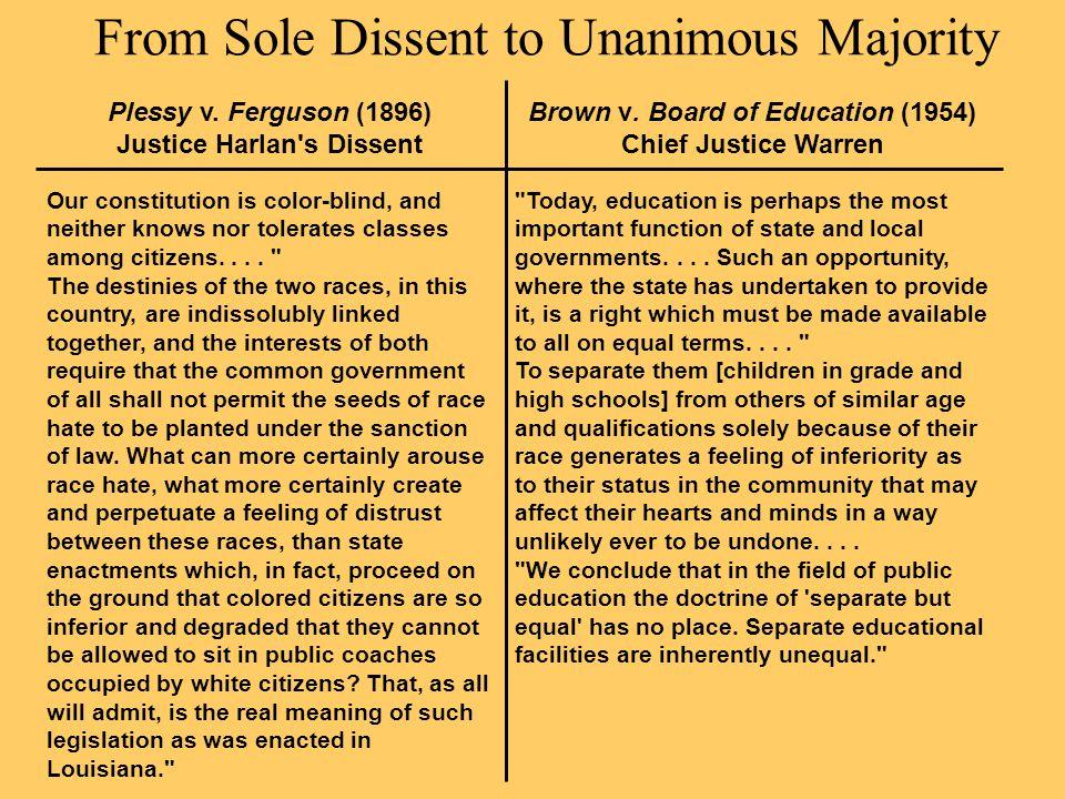 a document analysis john marshall harlan dissent in plessy v ferguson