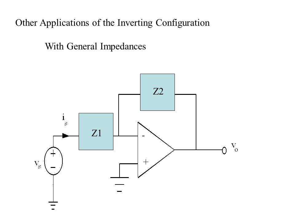 Other Applications of the Inverting Configuration With General Impedances Z1 Z2