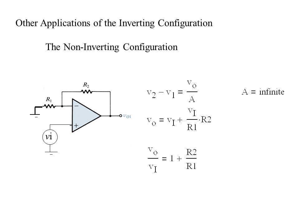 Other Applications of the Inverting Configuration The Non-Inverting Configuration vivi