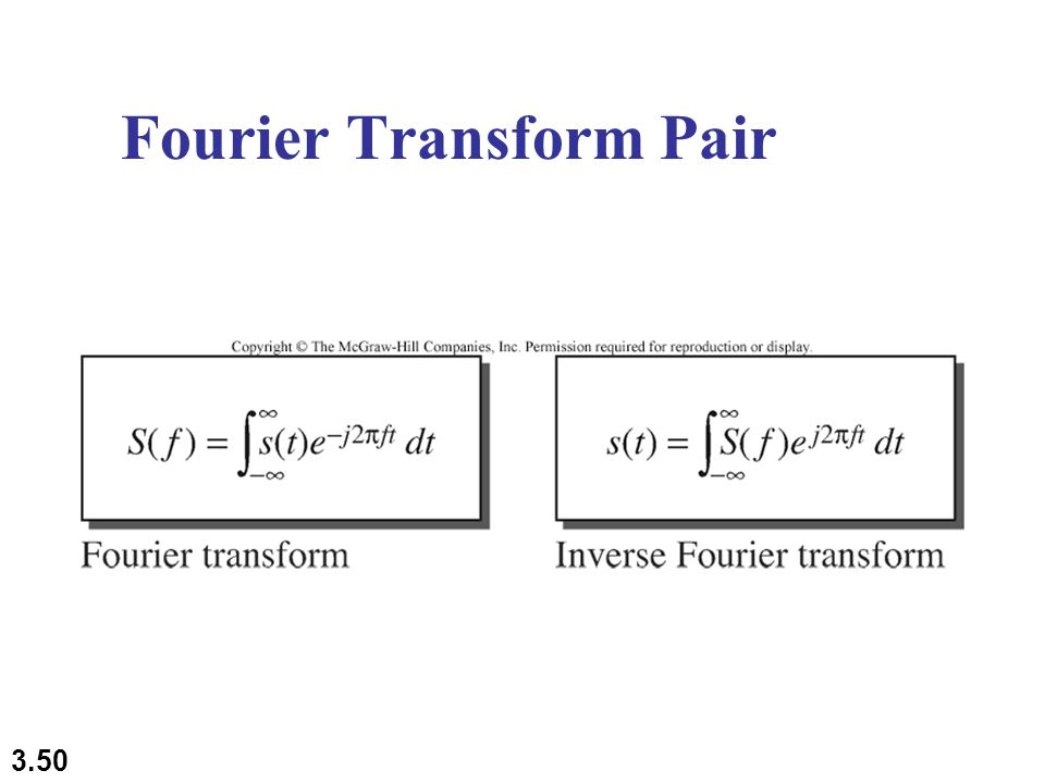 3.50 Fourier Transform Pair