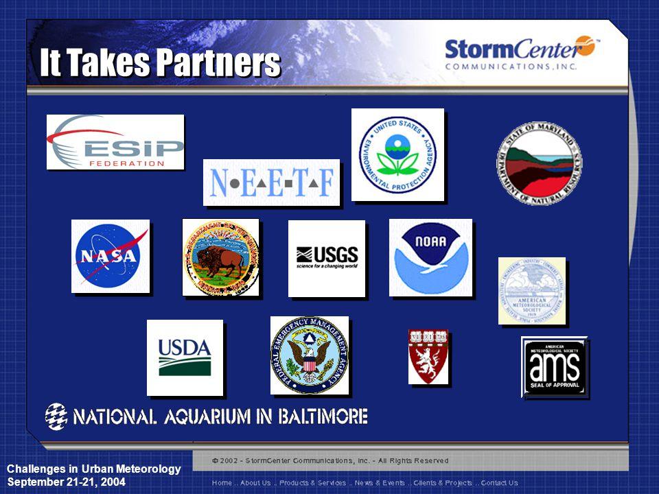 Challenges in Urban Meteorology September 21-21, 2004 It Takes Partners