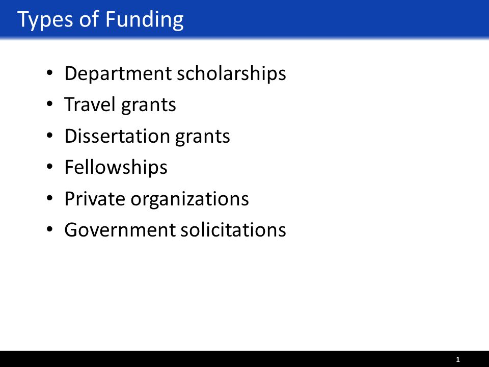 Dissertation Writing Funding
