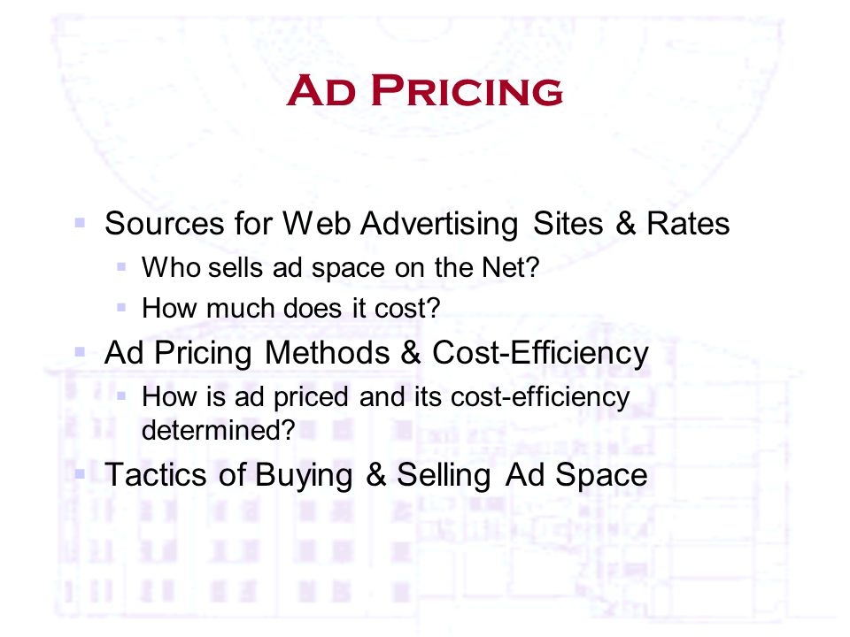 Ad Pricing  Sources for Web Advertising Sites & Rates  Who sells ad space on the Net.