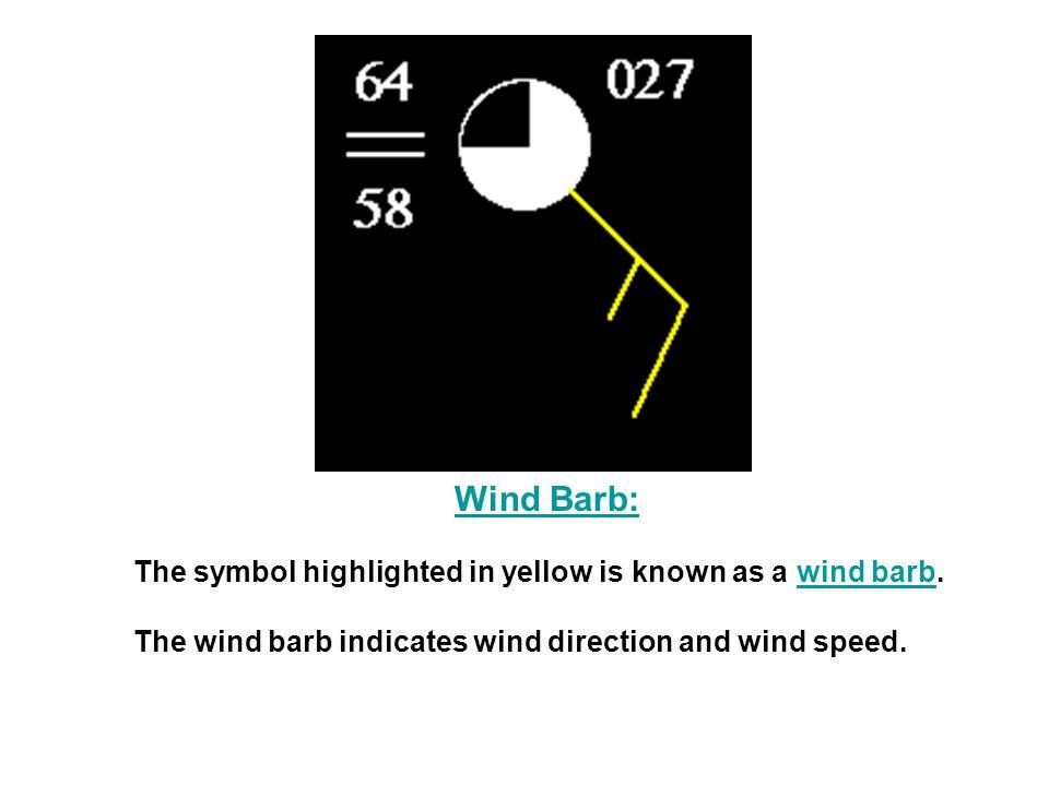 Interpreting Surface Observation Symbols Reading Wind Speed