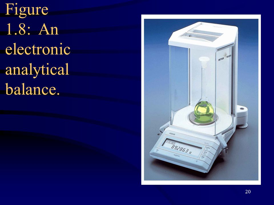 20 Figure 1.8: An electronic analytical balance.