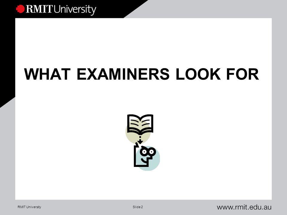 Thesis examination