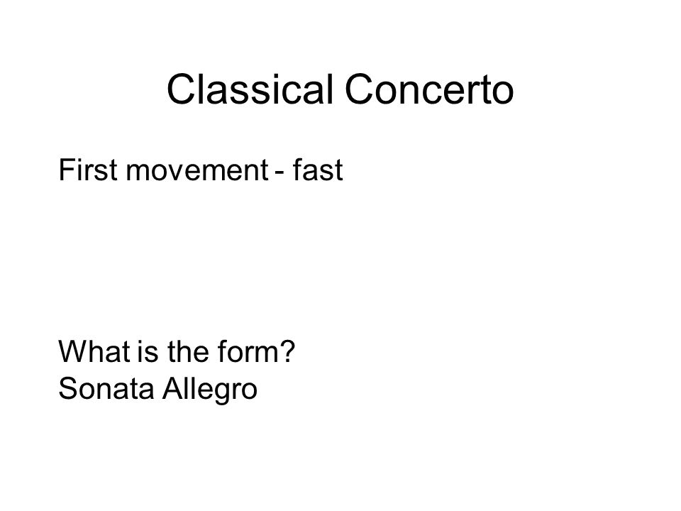 Classical Period Classical Timeline Sonata Cycle Four movement ...