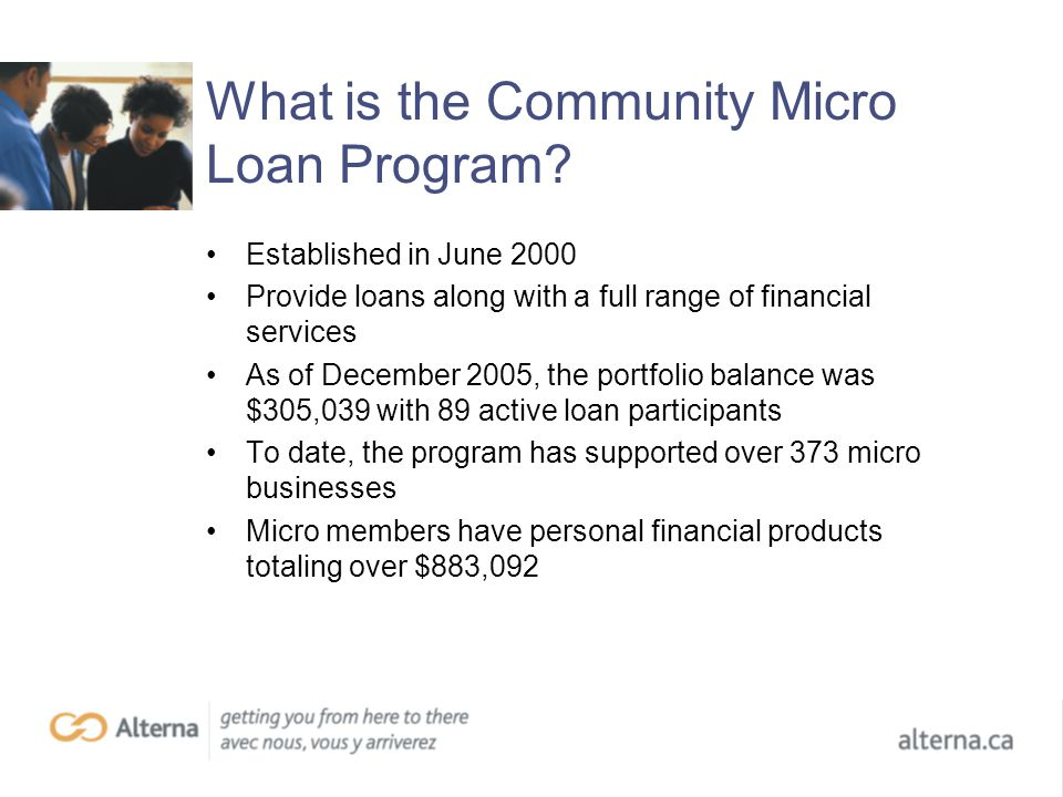 What is the Community Micro Loan Program.