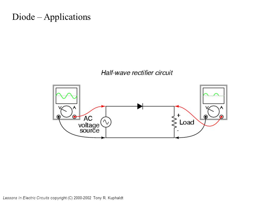 Lessons In Electric Circuits copyright (C) Tony R. Kuphaldt Diode – Applications