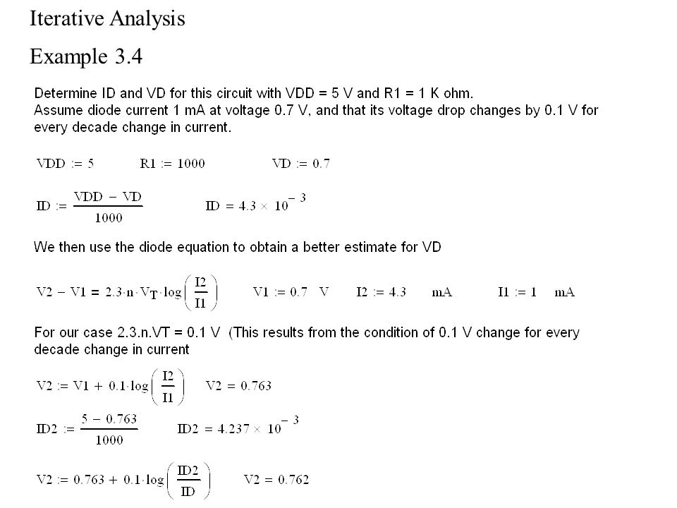 Iterative Analysis Example 3.4