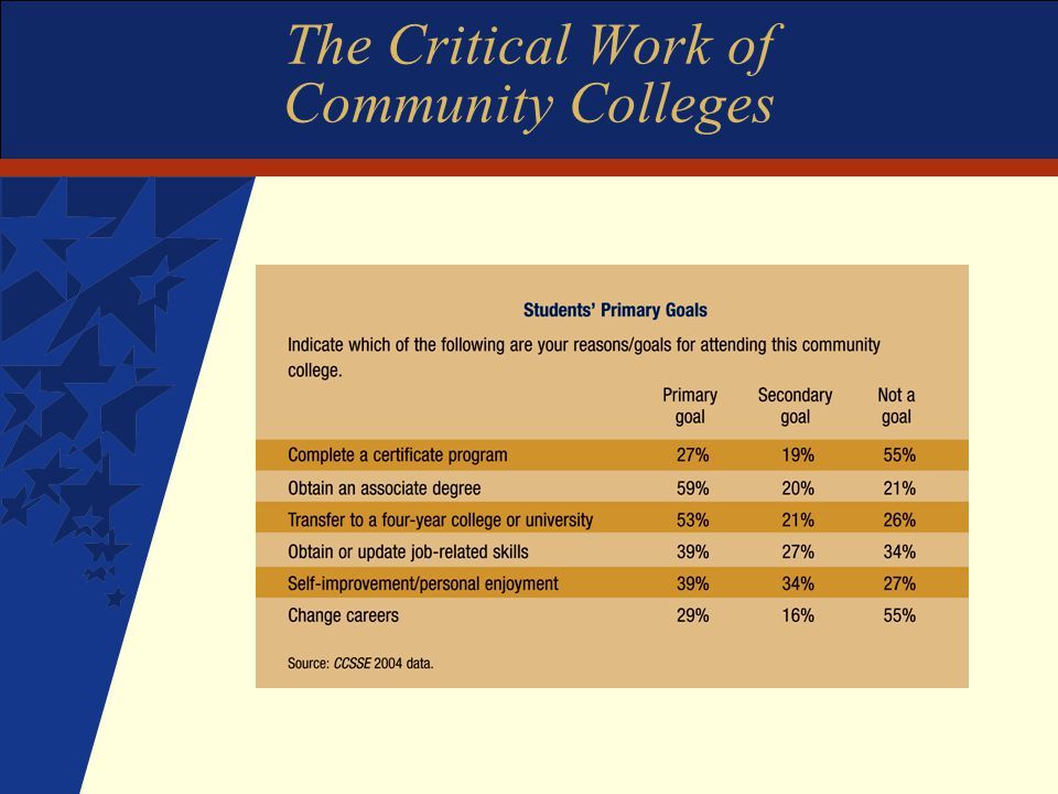 The Critical Work of Community Colleges
