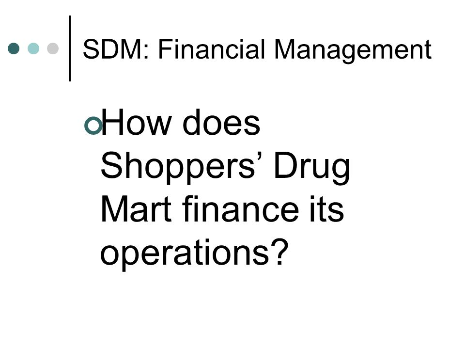 SDM: Financial Management