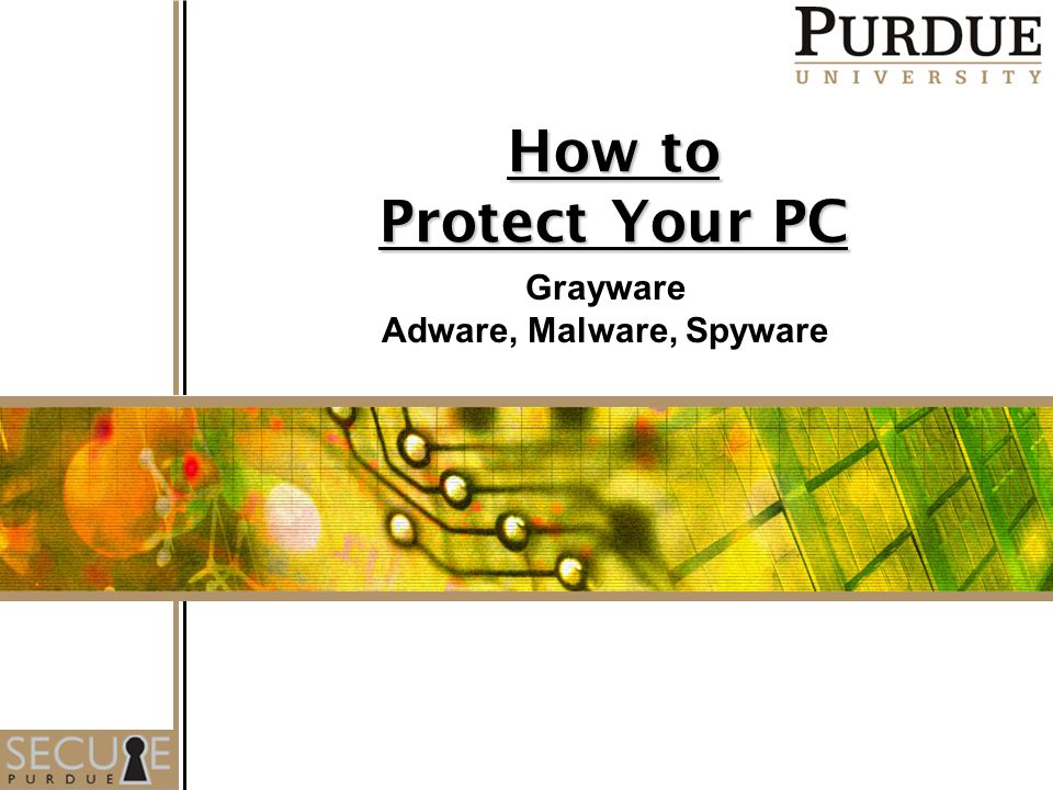 How to Protect Your PC Grayware Adware, Malware, Spyware