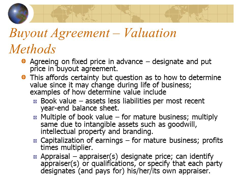 Law For Small Business Mgmt  Buyout Agreements Chapter