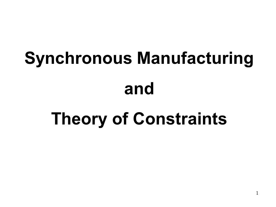 © The McGraw-Hill Companies, Inc., Synchronous Manufacturing and Theory of Constraints