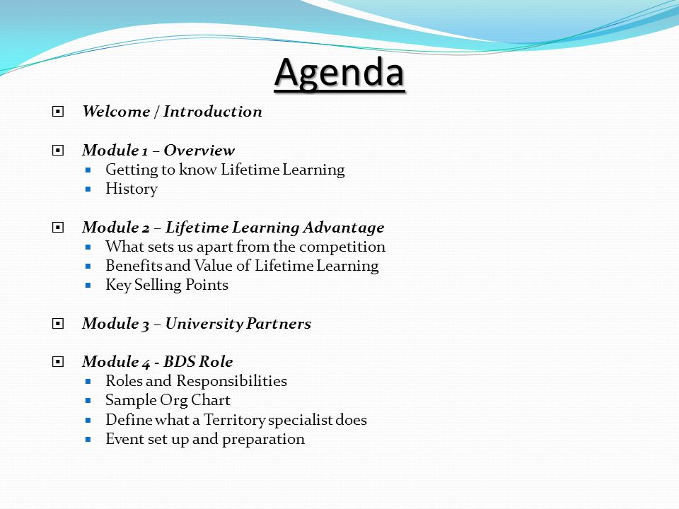 Business Development Specialist Bds Training Agenda  Welcome
