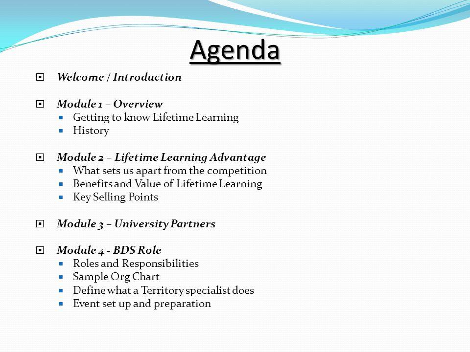 Business Development Specialist (Bds) Training. Agenda  Welcome