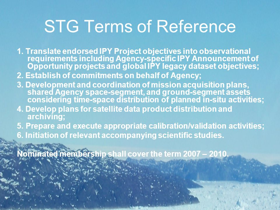 STG Terms of Reference 1.
