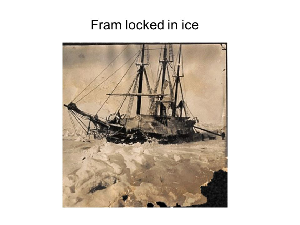 Fram locked in ice