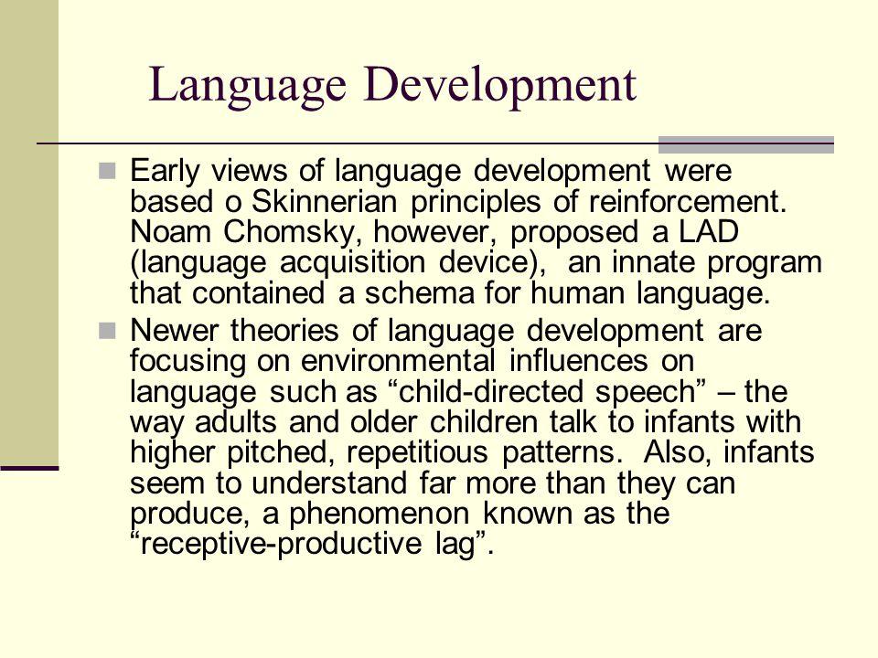 Language development adults