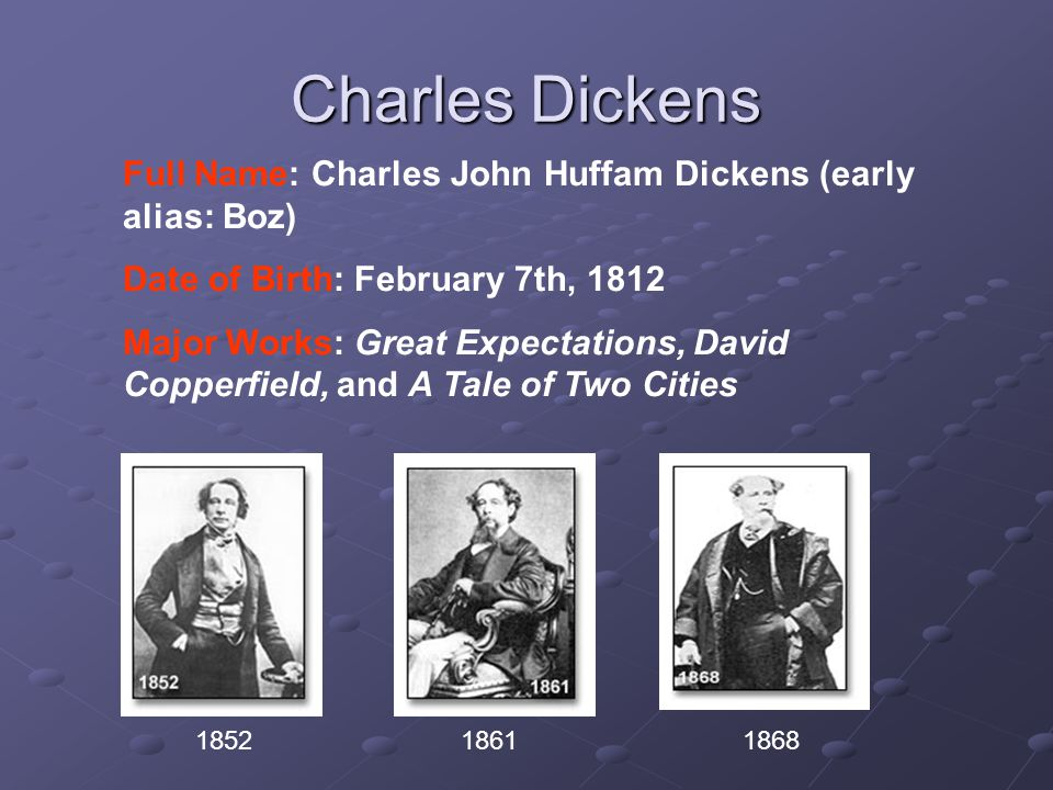 outline biographical sketch of charles dickens summary of a   john huffam dickens early alias boz date of birth 7th 1812 major works great expectations david copperfield and a tale of two cities