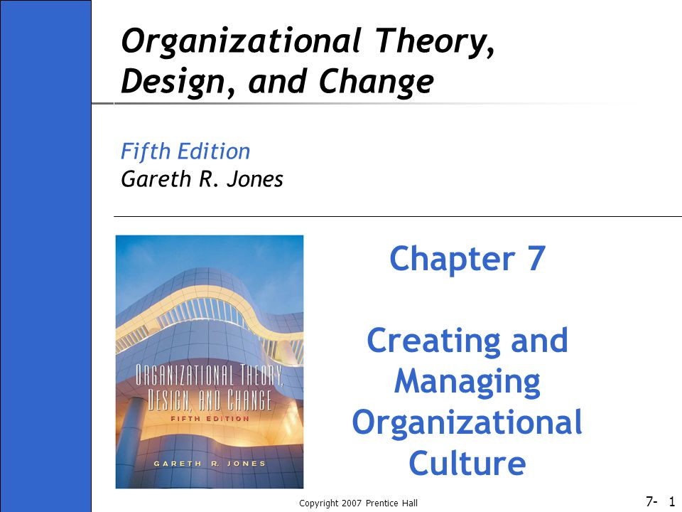 7- Copyright 2007 Prentice Hall 22 Where Does Organizational Culture Come From.