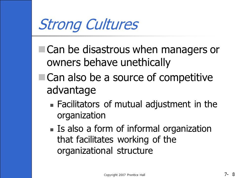 7- Copyright 2007 Prentice Hall 19 Table 7-2: Organizational Rites