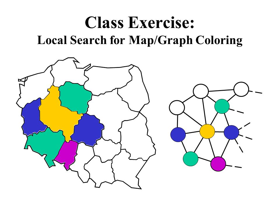 Class Exercise: Local Search for Map/Graph Coloring