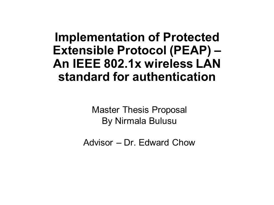 presentation thesis proposal